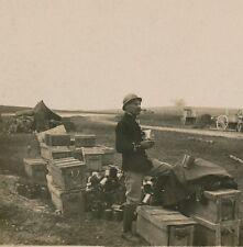 Stéréo Guerre WWI - A l'Echelon Eclatement de 130 Autrichien - 27