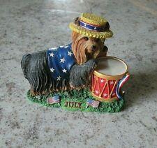Danbury Mint Calendar Month Dogs Figurines Yorkshire Terrier Yorkie July