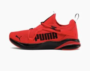 PUMA Size 6.5 Running Red/Black Softride Light Weight Breathable Mesh 194643-05