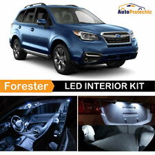 10pc LED White Light Interior Package Kit For 2014 - 2017 Subaru Forester + Tool