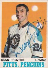 Dean Prentice Pittsburgh Penguins Autographed 1970-71 O-Pee-Chee Card W/COA
