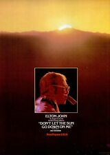 "1974 Elton John ""Don't Let The Sun Go Down On Me"" Song Release  Promo Reprint Ad"