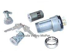 Ignition Switch - Bezel - Matched Ign & Door Locks Set for 1969 MoPar A-Body