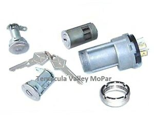 Ignition Switch - Bezel - Matched Ign & Door Locks Set for 1969 MoPar A-Body
