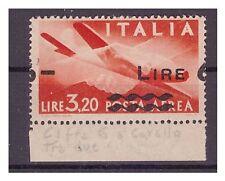 POSTA AEREA 1947 - 6 LIRE  su 3,20 SOPRASTAMPA SPOSTATA  NUOVO **