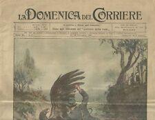 La Domenica del Corriere 19 - 26 Settembre 1909 Lotta tra Aquila e Cacciatore