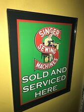 Singer Sewing Machine Seamstress Tailor Framed Print Sign