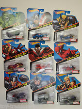 Set of NINE - Hot Wheels - Marvel Super Hero Cars - Ages 3 & up