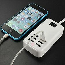 Universal 6 Port Wall USB Charger Dock Desktop Fast Charging USB Power Swich USA