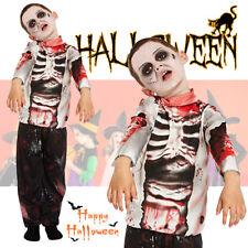 Halloween Fancy Dress Kids Zombie Boy Costume Child Trick Or Treat Dress - Small