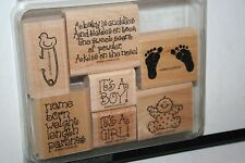 e RETIRED STAMPIN UP CUDDLES & TICKLES 7 PC LITTLE STAINING