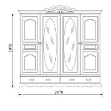 Classic Closets Wardrobe Wall Unit Wardrobe Country House Style Model OL-4D