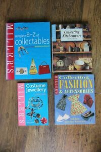 *MILLER'S COLLECTABLES 4 BOOKS. A-Z OF, KITCHENWARE,FASHION,COSTUME JEWELLERY*