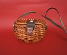 Vintage Rattan Retro Small 1950 Wicker Box Basket Handbag bag Handmade
