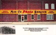 1939 & 1977 Advertising Postcard Mid-Co Photo Service in Wichita, Kansas~115048