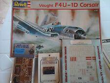 VOUGHT F4U-4D CORSAIR 1/32 SCALE REVELL MODEL+PHOTOETCHED+SUPER DECALS+COCKPIT D