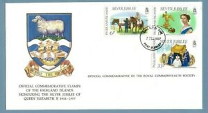 1977 FALKLAND ISLANDS SILVER JUBILEE ROYAL COMMONWEALTH SOCIETY FDC