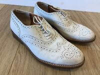 Women's Robert Clergerie White Lace Up Brogues Shoes US 7 UK 5
