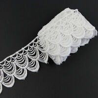 Wholesale! New 3 Yards Beautiful Handicrafts Embroidered Net Lace Trim Ribbon