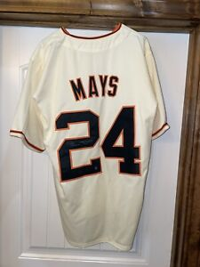 Willie Mays Autographed San Francisco Giants Custom Jersey Say Hey Hologram