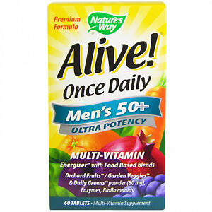 Nature's Way, Alive! Once Daily, Men's 50+ Multi-Vitamin, 60 Tablets