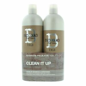Tigi Bed Head Clean Up For Men Shampoo And Conditioner 750ml Gift Set