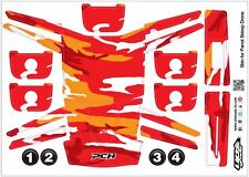 Skin/Wrap for Parrot Bebop Quadcopter Drone: Red Camo