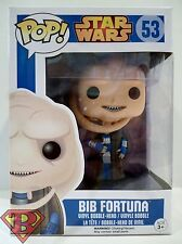 "BIB FORTUNA Star Wars Pop Movies 4"" inch Vinyl Bobble Head Figure #53 Funko 2015"