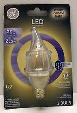 New GE LED Candelabra Base Vintage Decorative Bulb -Warm Candle Light (1 bulb)
