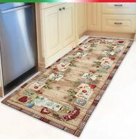 Tappeto cucina salotto bagno finto legno parquet cuori antiscivolo mod.NICE2