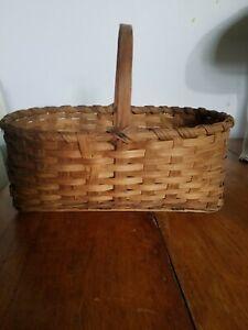 Antique Large Splint  Market Basket