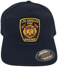 LAFD LOS ANGELES FIRE DEPARTMENT HAT MESH TRUCKER FLEXFIT SIZE L/ XL NAVY