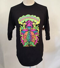 Loser Machine Men's Baseball T-Shirt Reefer Reaper Black LRG NWT Marijuana Death