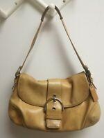 Coach Tan Leather Purse Handbag 9248