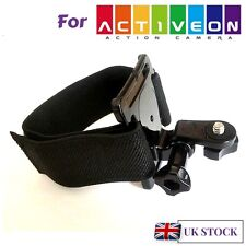 Hand Wrist Strap Harness Mount for Activeon Solar XG CX CX Gold Plus Action Cams