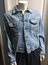 Men's Hollister Jean Denim Jacket SANFORIZED ORIGINAL DISTRESSED FADED SIZE MED