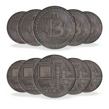 1 oz Antique Silver Bitcoin Commemorative Round (New, Lot of 10)