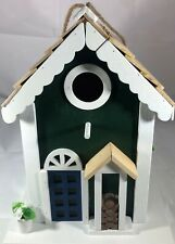 Welcome Home Birdhouse W/Firewood In Front