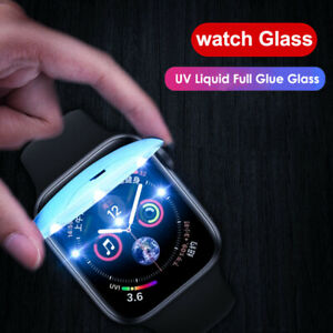 UV Tempered Glass Screen Protector For Apple Watch Series 6 SE 5 4 3 Full Cover