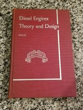 1942 Diesel Engines Theory and Design textbook by Degler. Illustrated.
