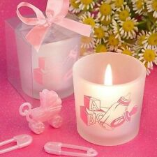 50 Saver Collection Baby Girl Themed Candle Baby Shower Favors