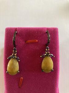 34mm Drop Non Pieced Earrings\uff08Pin\uff09  Jewelry Making  Wedding  Matte Rhodium Plated Brass  2pcs  abe04