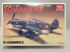 Vintage Academy Minicraft Curtiss P-40B Tomahawk ~ 1/72 ~ Sealed Contents