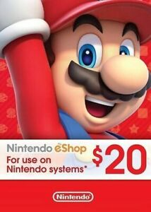 Nintendo Eshop Prepaid Card $20 for [US region]