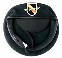 Green Beret U.S. Army Special Forces Hat with Golden Stars Badge Wool Size L