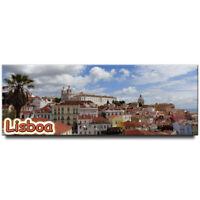 Lisbon panoramic fridge magnet Portugal travel souvenir