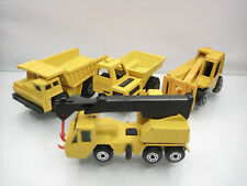 Diecast Matchbox Superfast Lot of 4 Construction Cars Yellow Good Condition