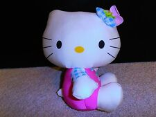 "New Hello Kitty 10"" Pink White Doll Toy Soft Stuffed Pillow Room Decoration"