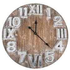 Wooden Industrial Analogue Wall Clocks
