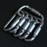 6 Stück Schraubkarabiner Schnapphaken Karabiner Alu Karabinerhaken Schlüsselring